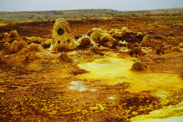 Sulphur soils. Photo: Dia Dubois